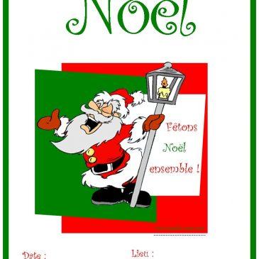 Carte et affiche de Noël à imprimer
