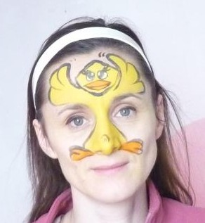 maquillage oiseau