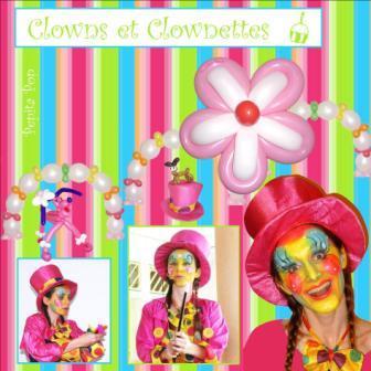 Anniversaire Clowns et Clownettes